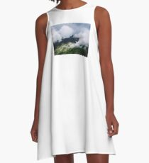 Moving Clouds A-Line Dress