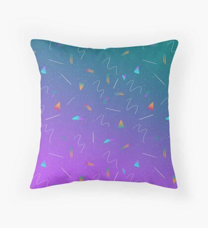 Neon Vibes Throw Pillow