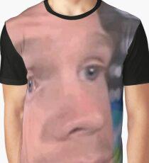 Camiseta gráfica chico blanco parpadeando