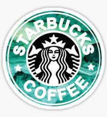 Starbucks Green Watercolor Sticker