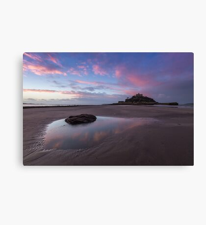 Beach at St Michael's Mount Canvas Print
