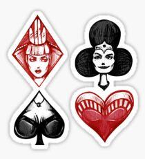 Queens of the Deck Sticker