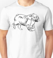 Bulldog Drawing Unisex T-Shirt