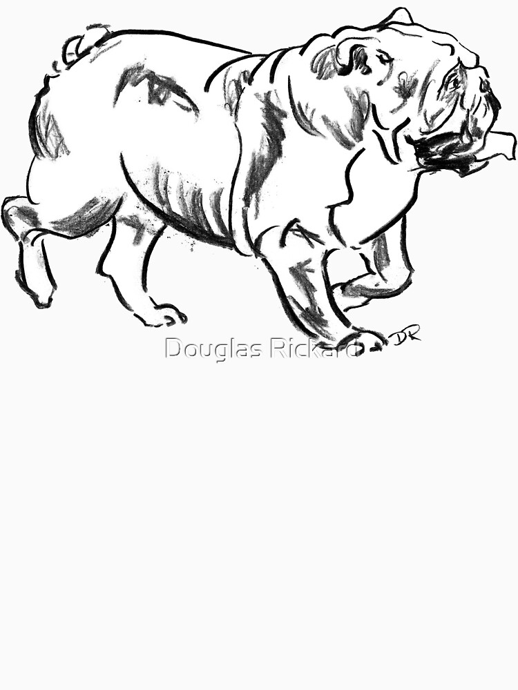Bulldog Drawing by douglasrickard