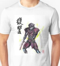 Javik from Mass Effect sumi and watercolor style T-Shirt