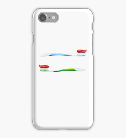 Toothbrush Toothpaste iPhone Case/Skin