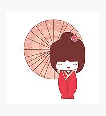 Japanese Doll Photographic Print