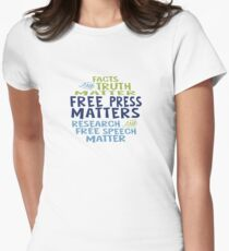 Free Press Matters Women's Fitted T-Shirt
