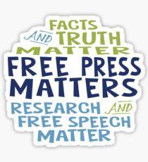 Free Press Matters Sticker