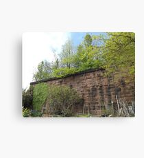 Harsimus Branch Embankment, Abandoned Pennsylvania Railroad Embankment, Jersey City, New Jersey  Canvas Print