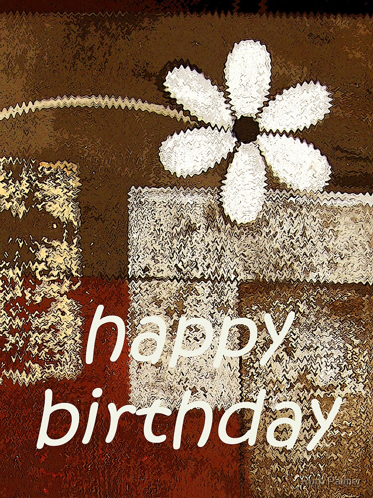 Abstract Floral Birthday Card by Ruth Palmer