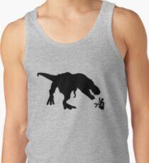 Jurassic Park T-rex Eats Man on Toilet Funny Tank Top