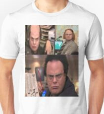 the wigs of Dwight Schrute Unisex T-Shirt