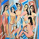 Les Demoiselles au Spa by Kathie Nichols