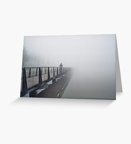 n°148: Street photography, walker in the mist Greeting Card
