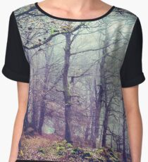 Peak District Forest  Chiffon Top