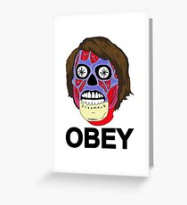 THEY LIVE Greeting Card