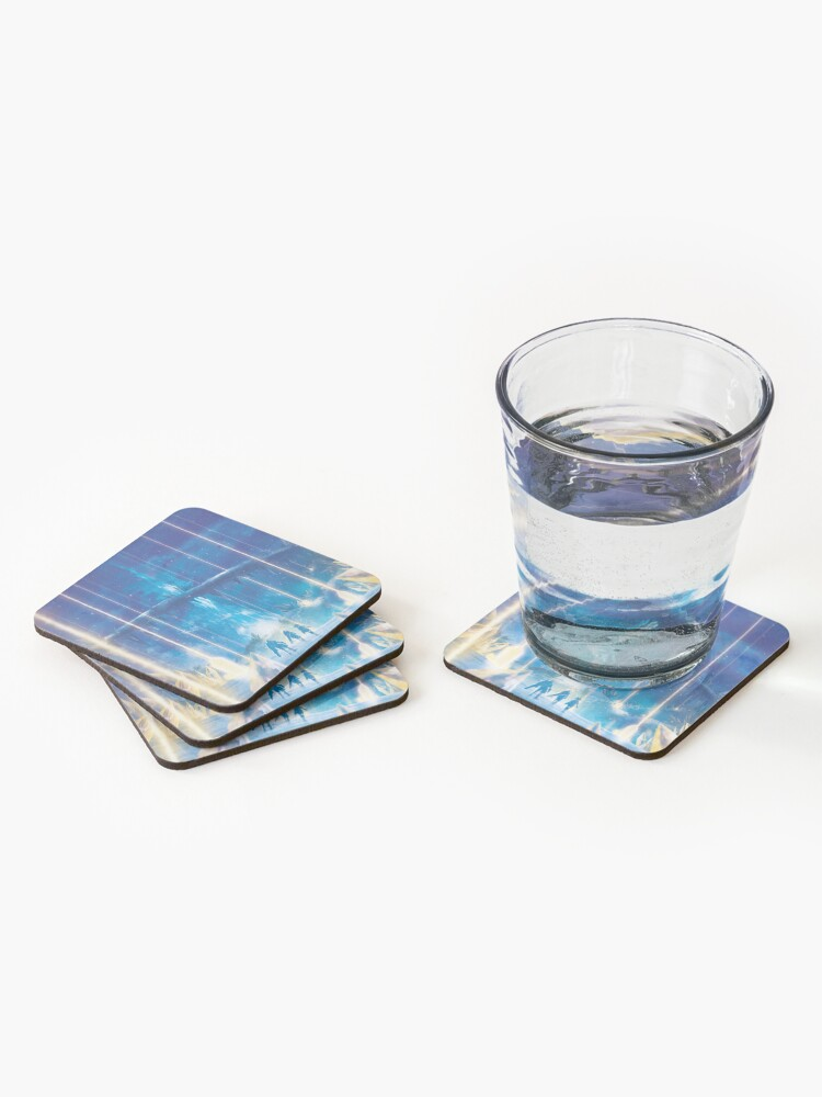 Alternate view of Valak Mountains by Night  Coasters (Set of 4)
