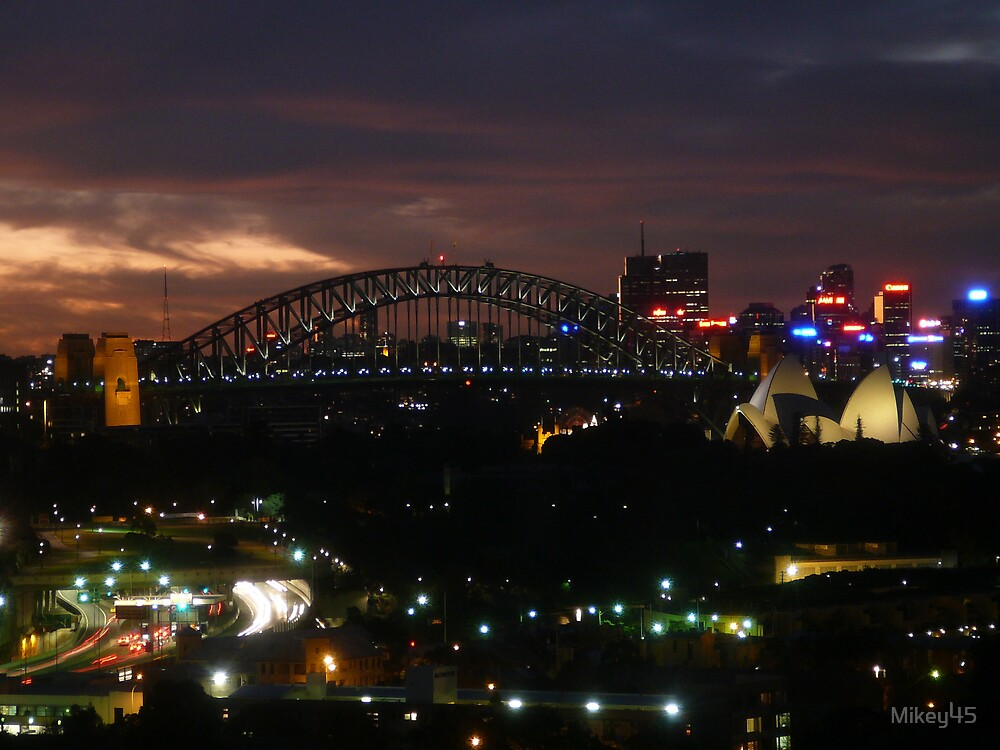 Sydney Harbour Bridge at Night by Mikey45