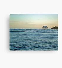 Location, Location, Location!  Stick House on The Ocean Canvas Print
