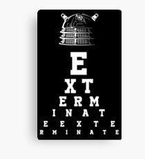 Dalek Eye Table Canvas Print