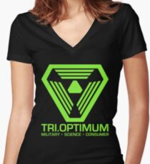 TriOptimum Corporation Women's Fitted V-Neck T-Shirt