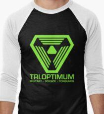 TriOptimum Corporation Men's Baseball ¾ T-Shirt