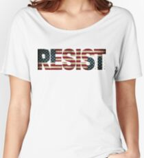 'RESIST' USA Protest Flag  Women's Relaxed Fit T-Shirt