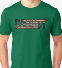 'RESIST' USA Protest Flag  Unisex T-Shirt