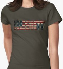'RESIST' USA Protest Flag  Women's Fitted T-Shirt