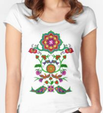 Sacred Geometry - The fruit of Love Women's Fitted Scoop T-Shirt