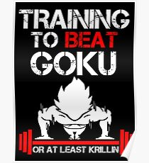Goku Gym Posters | Redbubble