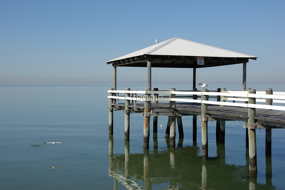 Lonely Pier in Port Melbourne by Froggie