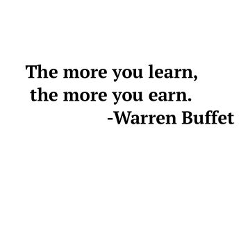 Warren Buffet Quote by MyHipHopFashion