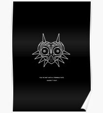 majoras mask | minimal poster BLACK Poster