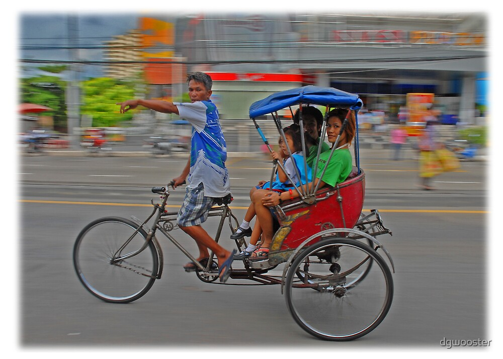 Rickshaw in Bangkok by dgwooster