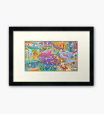 Sonic 2 Fresco  Framed Print