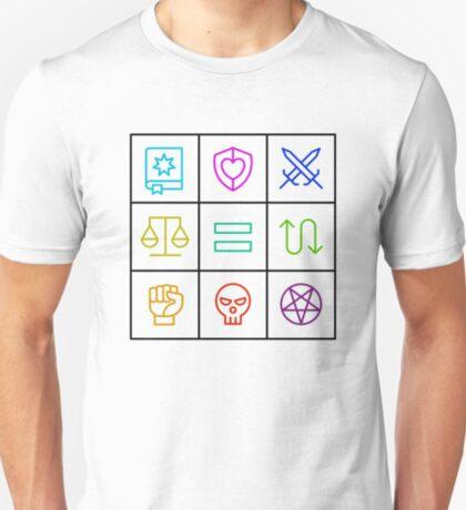 Alignment - Dungeons & Dragons Line Art Series T-Shirt