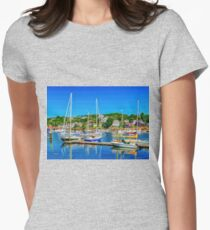 Summer Day at Gloucester Womens Fitted T-Shirt