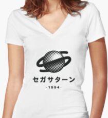 Sega Saturn Women's Fitted V-Neck T-Shirt