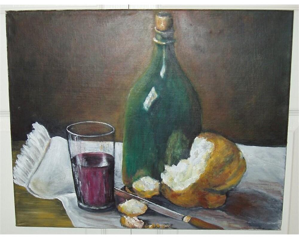 Bread and wine by Eileen Kasprick