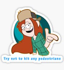 Wendy-Try Not to Hit Any Pedestrians Sticker