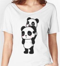 Piggy Back Pandas Women's Relaxed Fit T-Shirt