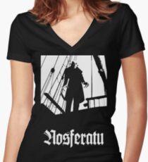 Nosferatu black Women's Fitted V-Neck T-Shirt