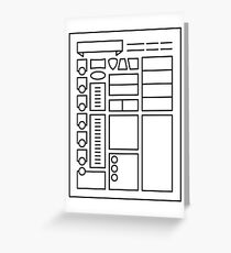 Character Sheet - Dungeons & Dragons Line Art Series Greeting Card