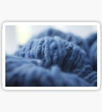 Blue Yarn Sticker