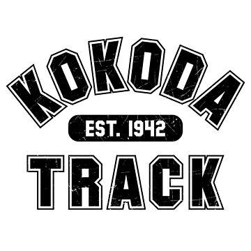 Kokoda Varsity Est 1942 Black Vintage by noroads