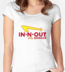In Out Burger Merchandise Women's Fitted Scoop T-Shirt