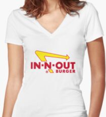 In Out Burger Merchandise Women's Fitted V-Neck T-Shirt