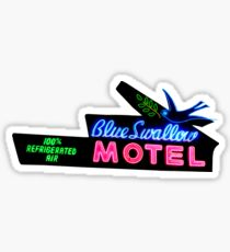 Blue Swallow Motel Neon Sign Route 66  Sticker